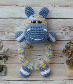 Crochet Hippo, Crochet Baby Toys, Crochet Gifts, Cute Crochet, Crochet For Kids, Crochet Animals, Easy Crochet Patterns, Amigurumi Patterns, Crochet Doll Tutorial