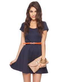 Ponte Fit and Flare Dress.
