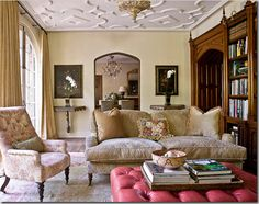 Cote De Texas Living Rooms | nature of the room another cote de texas room below uses the paintings ...