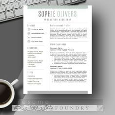 Resume Template + Cover Letter by ResumeFoundry on @creativemarket