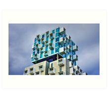 Cubed Living up High in Melbourne, Victoria Art Print