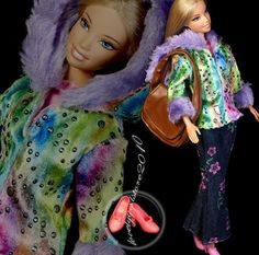 New Fashion outfit Clothes/jeans /bag for Barbie doll C085