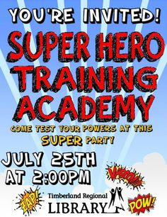 Super Hero Training Academy Poster (Rachel Moani)