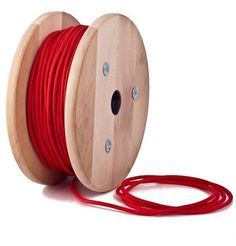 Rojo Cable Textil