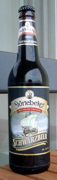 """This is my favorite German beer. Named after the pirate Klaus Störtebeker, a german Robin Hood of the North Sea, this beer not only tastes awesome but has a great story. This is a Schwarzbier """"black beer""""."""