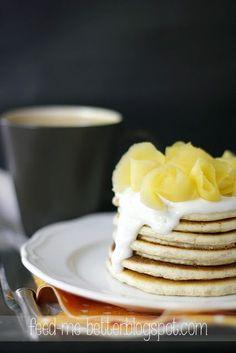 Feed Me Better: Proteinowe placuszki, białkowe pancakes. Easy Healthy Recipes, Diet Recipes, Brunch Recipes, Breakfast Recipes, Good Food, Yummy Food, Magic Recipe, Protein Pancakes