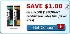 Tri Cities On A Dime: SAVE $1.00 ON ANY BENGAY PRODUCT