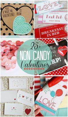 25+ Non-Candy Valentines - cute, handmade, and candy free! { lilluna.com }