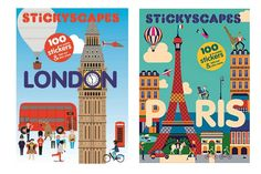 The wryly funny Stickyscapes activity sticker books: awesome for travel with kids.