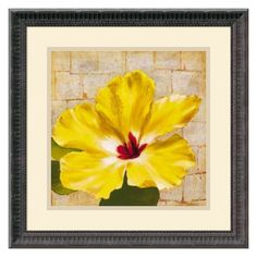 Fabric Floral One Framed Wall Art - 18.18W x 18.18H in. | from hayneedle.com