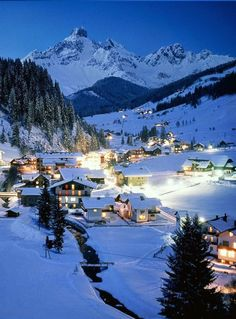 Filzmoos, Austria | This romantic village in the mountains of Austria is pulled right out from a post-card. Filzmoos, where it's Christmas all the time, is a year-round destination for travelers and site-seers.