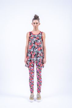 Romani Design, ss17, wanderers of the worlds, roma, gypsy, stripes, striped, floral, print, rose, roses, fashion, flower, flowers, outfit, spring, summer, leggings, long, top, tunic Gypsy, Roses, Jumpsuit, Spring Summer, Stripes, Tunic, Leggings, Style Inspiration, My Style