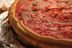 Deep-dish pizza is a Chicago specialty, and while nobody can agree who makes it the best, we picked our favorites here. Chicago Vacation, Chicago Travel, Chicago Trip, Food In Chicago, Chicago Girls, Chicago Illinois, Places In Chicago, Chicago Restaurants, Deep Dish