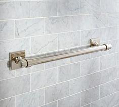 "Pearson Towel Bar, 18"", Polished Nickel finish"