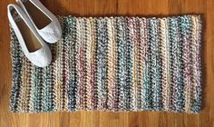 A personal favorite from my Etsy shop https://www.etsy.com/listing/528710567/multicolor-crochet-rug-crochet-rug