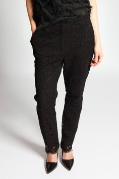 Pantalon Dentelle Noir Dolce & Gabbana