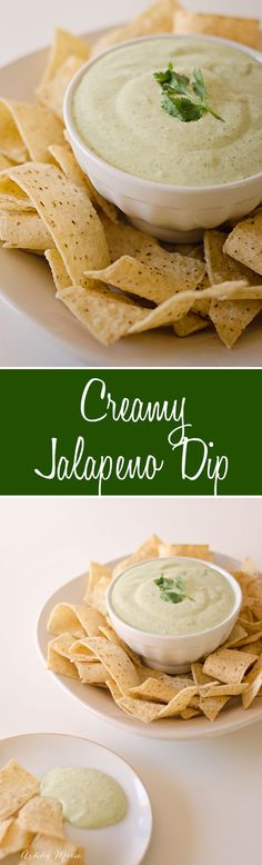 this creamy jalapeno dip is amazing, its spicy and flavorful but balanced with the creaminess so its not too hot, everyone loves this copycat recipe