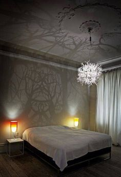 """Branches + Low Light Bulb = """"Shadow Forest"""" Chandelier (Photo Only)"""