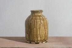 Green ceramic jar handmade pottery Tsubo-style vase with Handmade Pottery, Handmade Gifts, Ceramic Jars, Vases, Ceramics, Unique Jewelry, Green, Etsy, Vintage