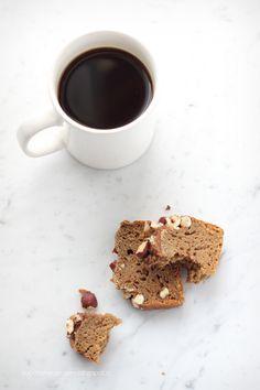 banana bread al caffè e nocciole