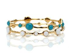 Gold Stone Bangle Set