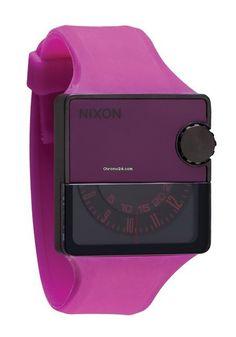 Nixon The Rubber Murf Shocking Pink Men´s Watch $245 #watch #watches pink silicon bracelet