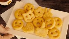McCain announced last week that they would be expanding the trademark smiley face potato bites into emoji form. Outback Steakhouse, Content Manager, Potato Bites, Potato Chips, French Fries, Smiley, Macaroni And Cheese, Good Food, Candy