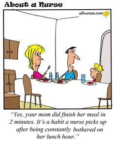Cartoon: Habits you picked up from work... - About A Nurse - Nursing Cartoon Series