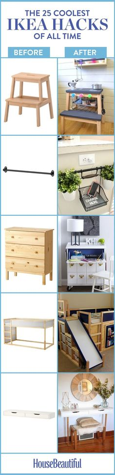 We found the most creative ideas for the retailer's most iconic items (how m. - Ikea DIY - The best IKEA hacks all in one place Ikea Hacks, Ikea Furniture Hacks, Furniture Makeover, Home Furniture, Hacks Diy, Furniture Projects, Ikea Makeover, Homemade Furniture, Recycled Furniture