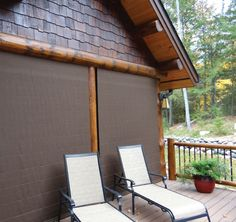 When the Weather Queen Shades are closed, they protect the porch from rain, snow, wind, dirt, and pollen.