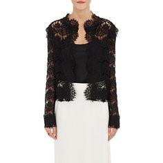 Designer black lace jacket