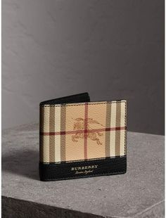 18e92fc5f547 Burberry Haymarket Check and Leather International Bifold Wallet Gucci  Wallet