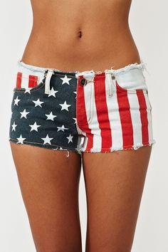 America Cutoff Shorts - Nasty Gal