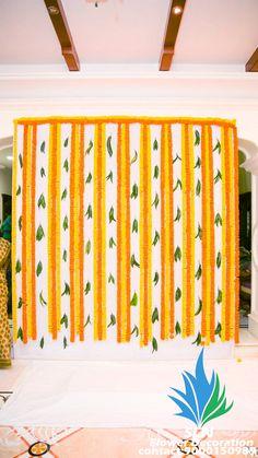 Desi Wedding Decor, Wedding Stage Decorations, Backdrop Decorations, Flower Decorations, Simple Stage Decorations, Naming Ceremony Decoration, Housewarming Decorations, Traditional Wedding Decor, Bakken