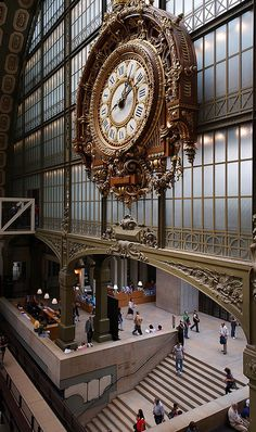 Le Grande Horloge,  Le Musée d'Orsay - Entrée - Grande Horloge   (The Grand Clock at The Musee d'Orsay Museum, Paris, France).  This museum is housed in a grand railway station built in 1900.