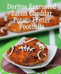 Bacon Cheddar Potato Fritter Footballs