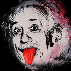 Albert Einstein And Tongue Painting  - Albert Einstein And Tongue Fine Art Print