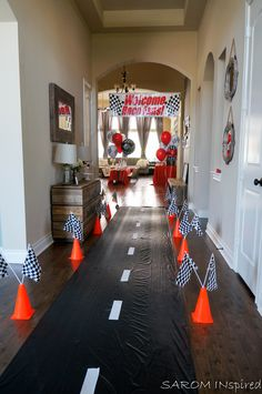 Race Car Birthday – SAROM INspired SAROMINspired  Race Car Birthday Disney Cars Lightning McQueen Start Your Engines Photo Booth Lifesize Photo Booth Boy DIY Do It Yourself Decorating Crafts Crafter Interior Decorating Party Planner Event Planner Hosting Houston HTX Pearland Nascar