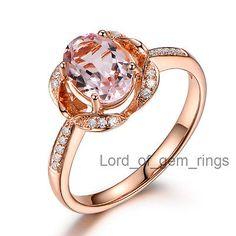 Oval-Cut-6x8mm-Pink-Morganite-VS-Diamonds-14K-Rose-Gold-Engagement-Wedding-Ring