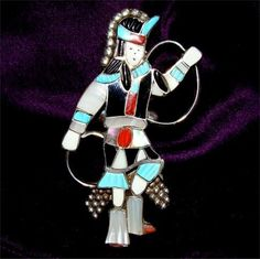 RARE Size 8 Zuni Indian Kachina RING Handmade and by Silvercityusa, $395.00