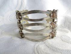 Vintage Sterling Cuff Bracelet, Mexico Silver Cuff, Sterling Silver Cuff, Mexican Silver Jewelry #sterlingbracelet #mexicosilver #sterlingcuff #sterlingcuffbracelet