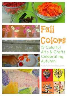 We *LOVE* colorful activities, here is a collection of crafts for the kids to do in the fall.