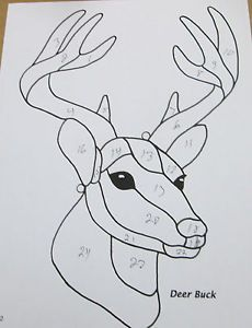 deer patterns | Details about PRE CUT STAINED GLASS BUCK DEER PATTERN