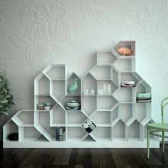 House-Shaped Shelving Units - The Citybook Modular Bookcase Makes a Chaotic Community (GALLERY)
