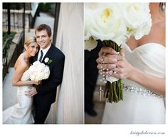The bride had her grandmother's rosary wrapped around her bouquet. #WeddingRosary
