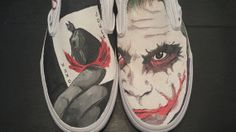 Your place to buy and sell all things handmade Batman Shoes, Batman Stuff, Custom Vans, Painted Shoes, Vans Shoes, Designer Shoes, Me Too Shoes, Crime, Joker