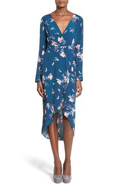 ASTR Wrap Front High/Low Dress available at #Nordstrom