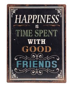 'Happiness Is Time Spent' Wall Sign