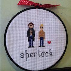 Sherlock BBC Cross Stitch Pattern. $4.00, via Etsy.