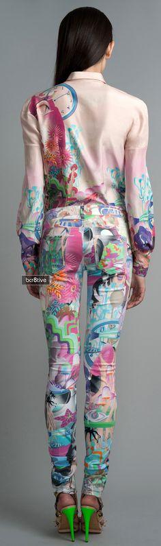 Manish Arora Graphic Silk Shirt & Graphic Denim Notify Pant